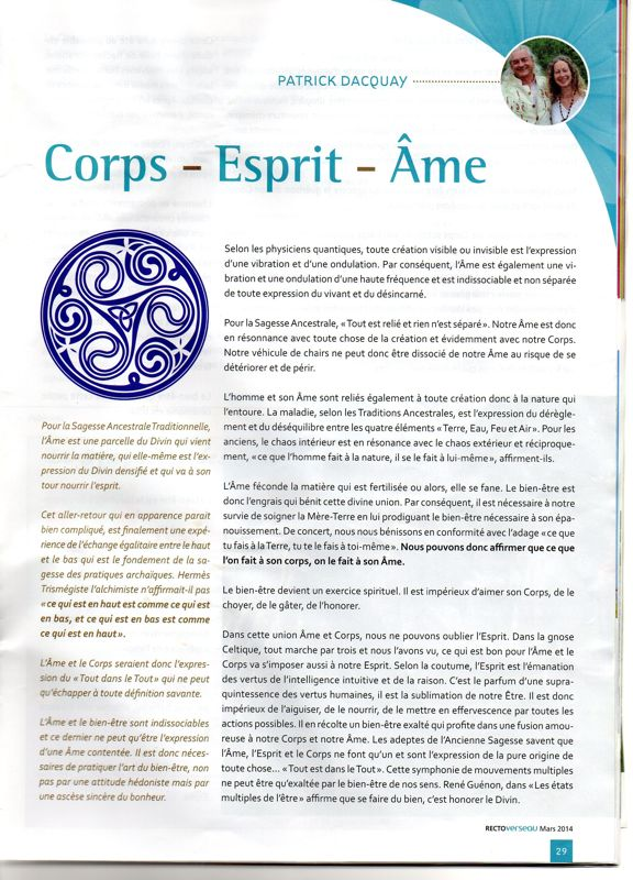Page 1- corps-ame-esprit